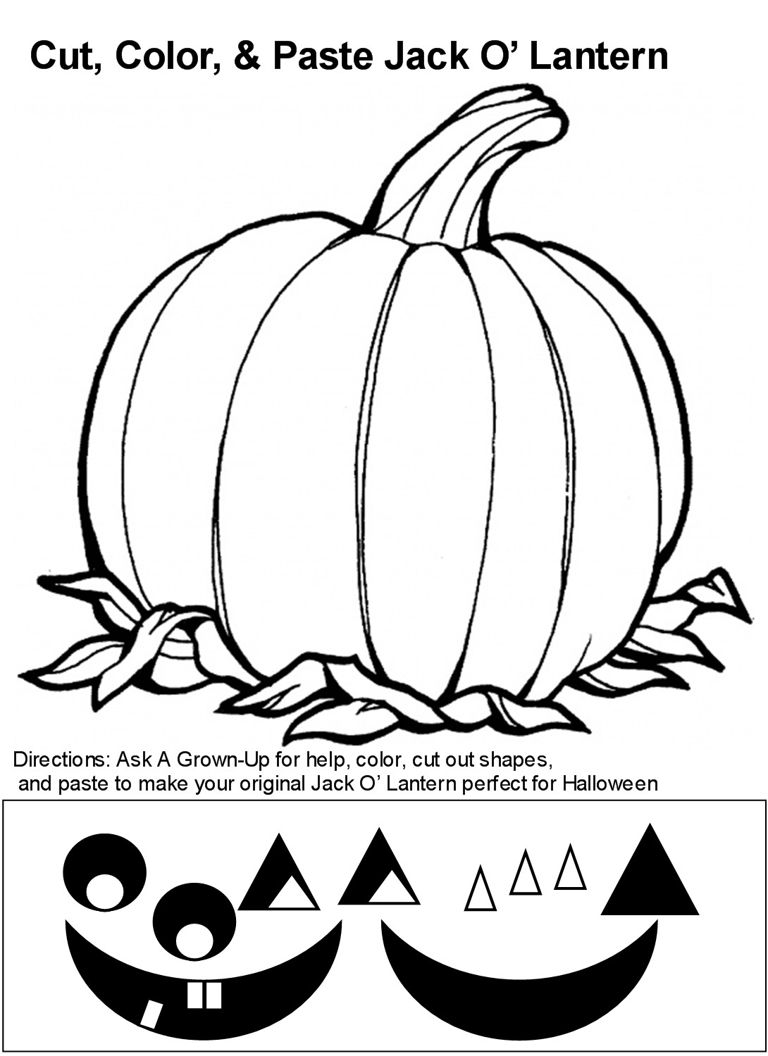 Wide Jack Lantern Pumpkin Coloring Page Pages For Sketch