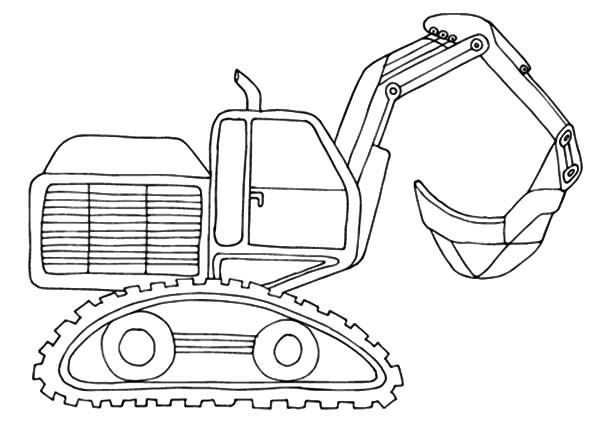 Front End Loader Pages Coloring Pages