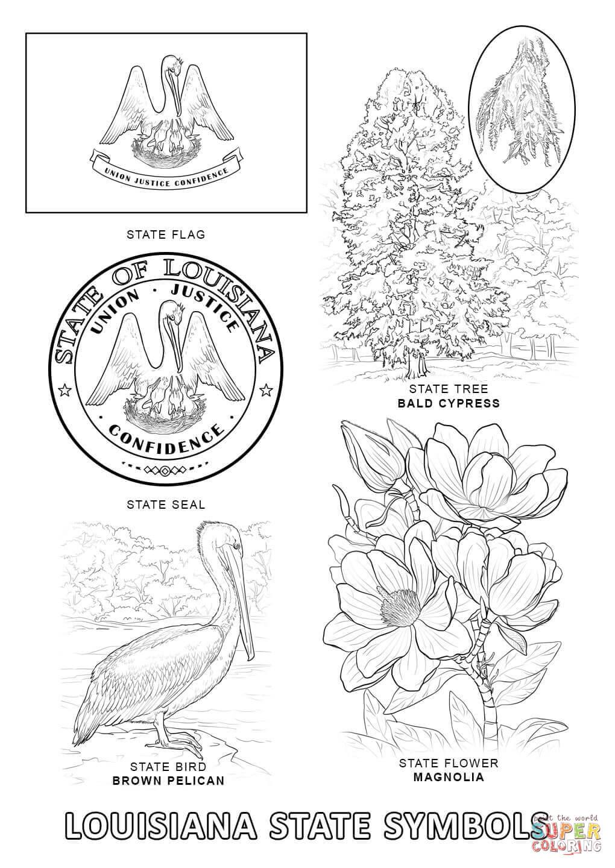 Louisiana coloring, Download Louisiana coloring for free 2019