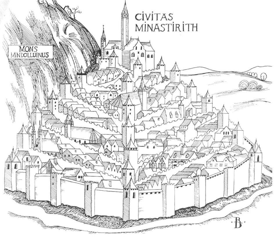 Minas Tirith coloring, Download Minas Tirith coloring for