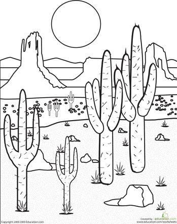 Mojave Desert coloring, Download Mojave Desert coloring