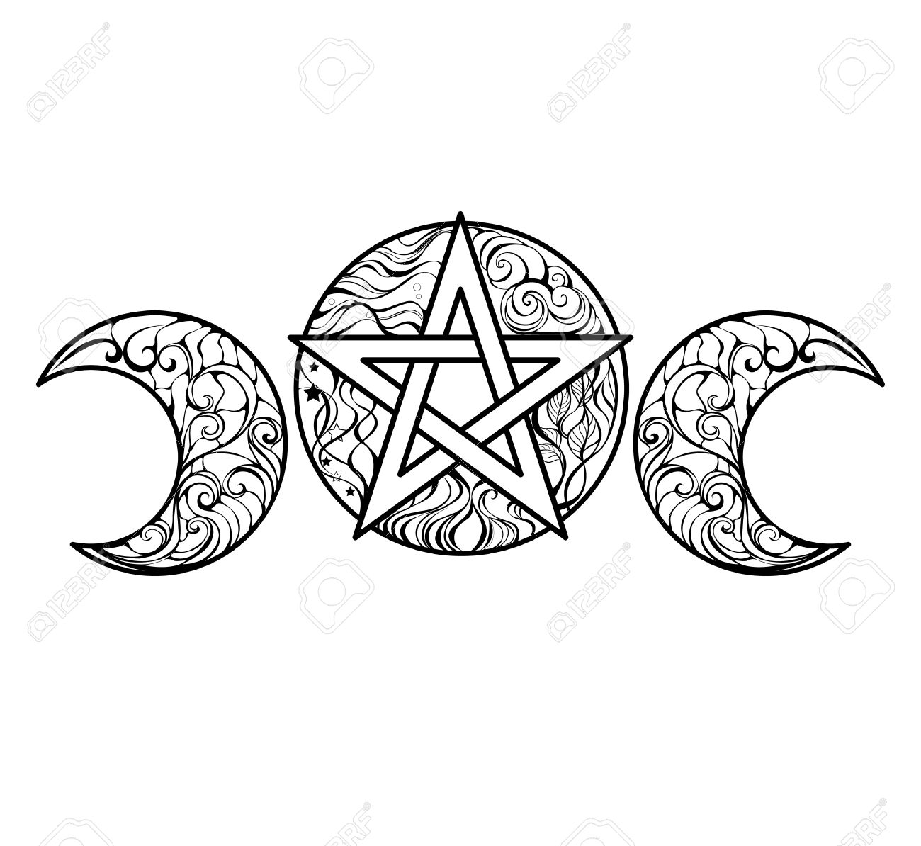 Pentacle Coloring Pages