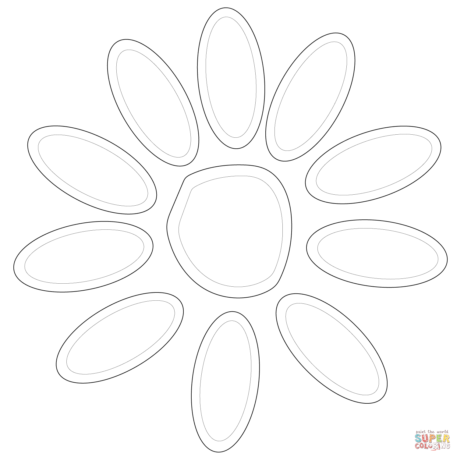Petal coloring, Download Petal coloring for free 2019