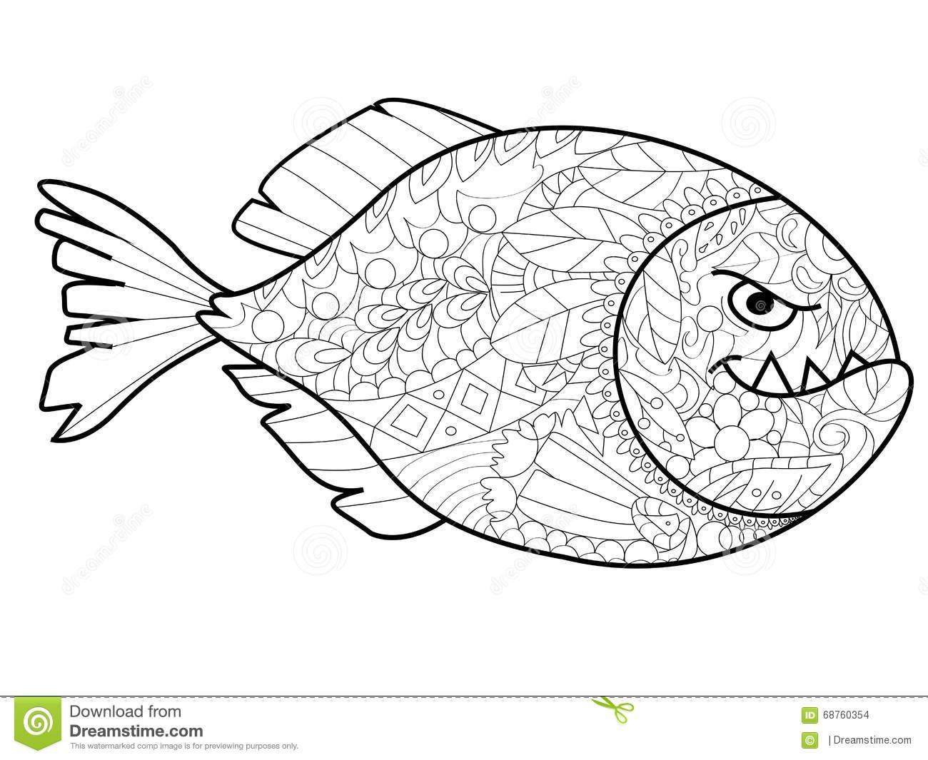 Piranha Coloring Download Piranha Coloring