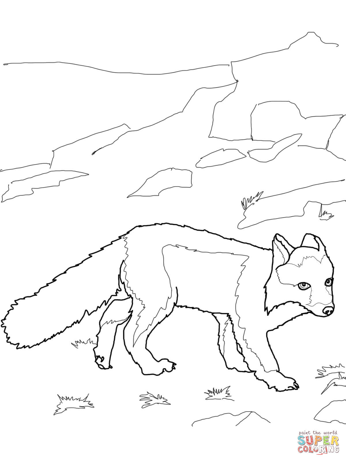 Download Polar Fox Coloring For Free