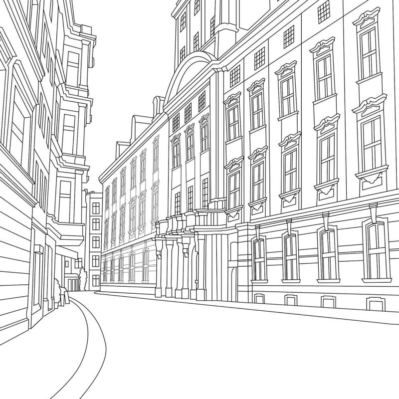 Prague coloring, Download Prague coloring