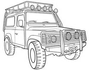 Land Rover Discovery Coloring Pages