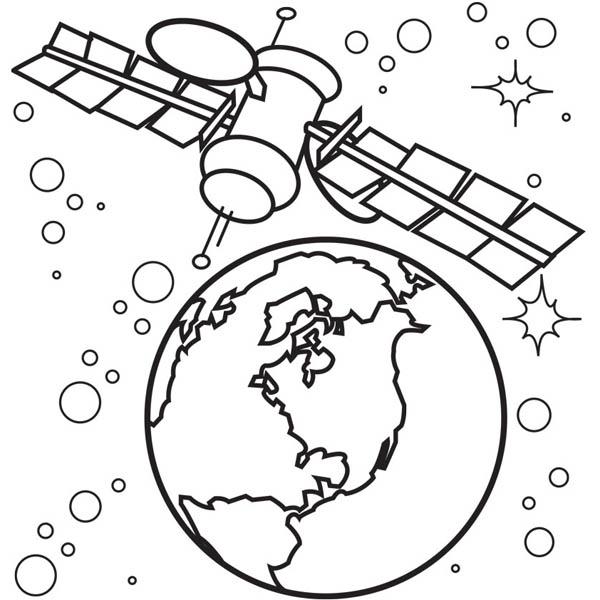 Satelite coloring, Download Satelite coloring for free 2019