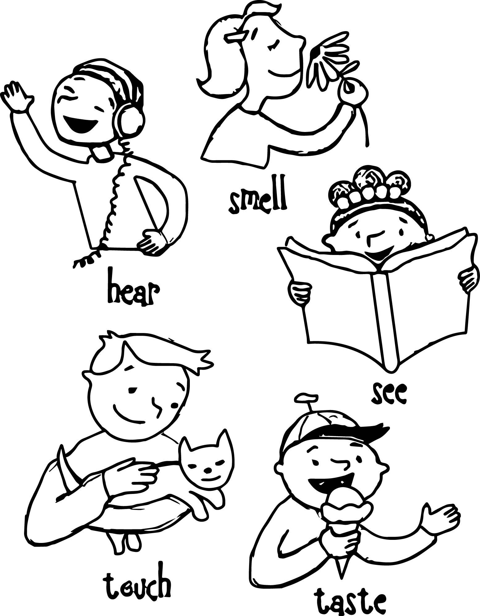 Senses coloring, Download Senses coloring