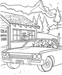 Sequoia National Park coloring, Download Sequoia National