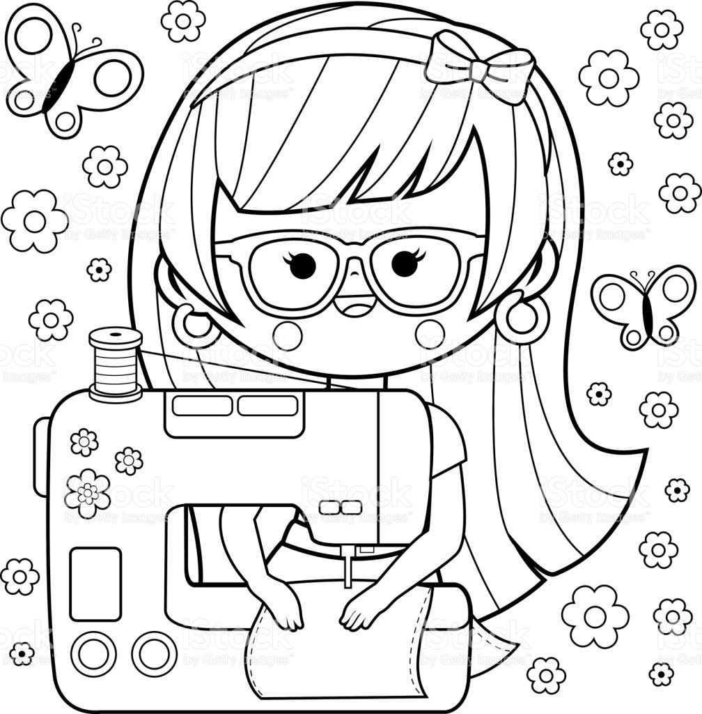 Sewing Machine coloring, Download Sewing Machine coloring