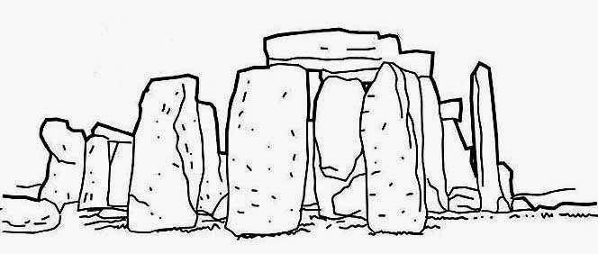 Stonehenge coloring, Download Stonehenge coloring for free