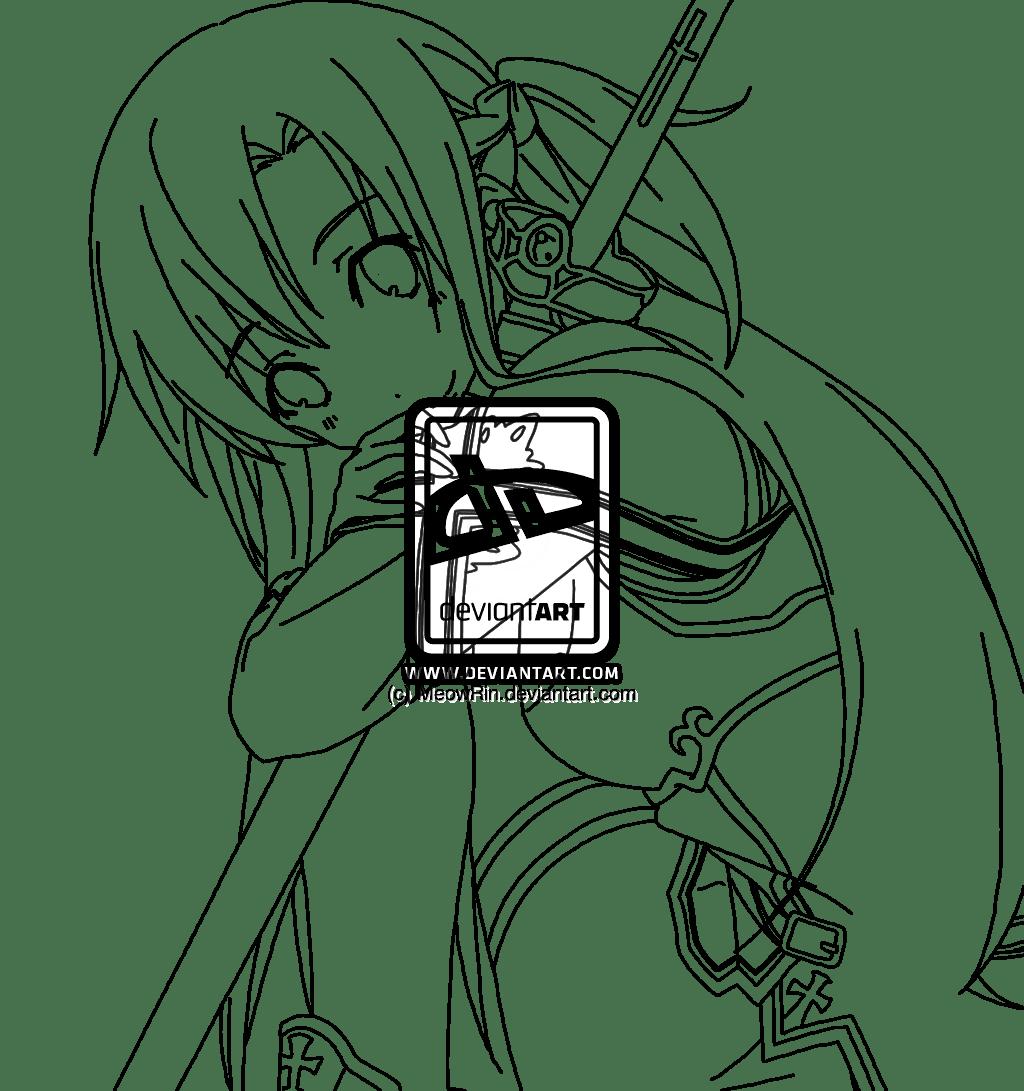Sword Art Online coloring, Download Sword Art Online coloring