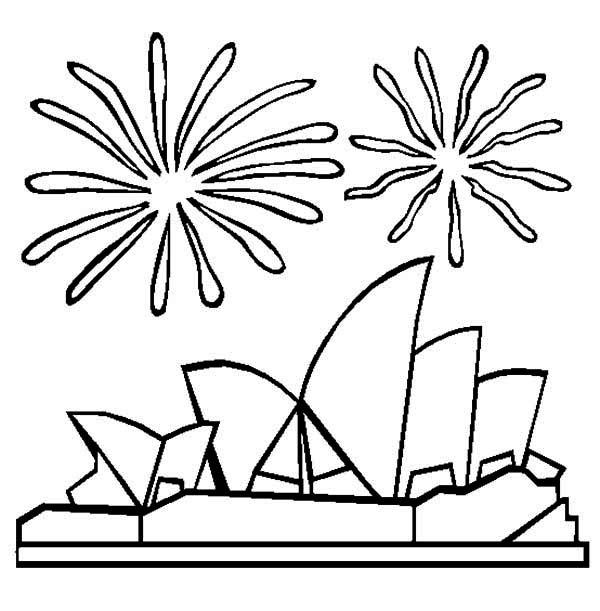 Sydney Opera House coloring, Download Sydney Opera House