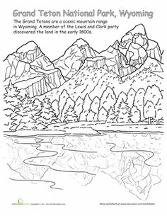 The Teton Range coloring, Download The Teton Range coloring