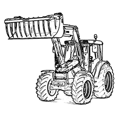 Tractor coloring, Download Tractor coloring