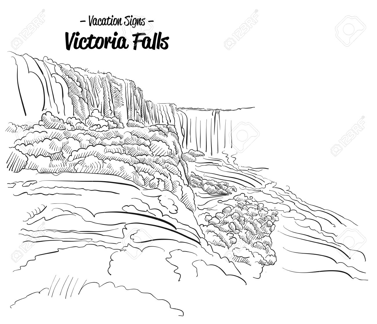 Victoria Falls Coloring Download Victoria Falls Coloring