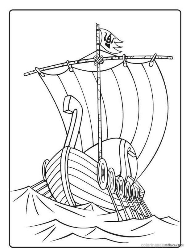 Viking Ship coloring, Download Viking Ship coloring