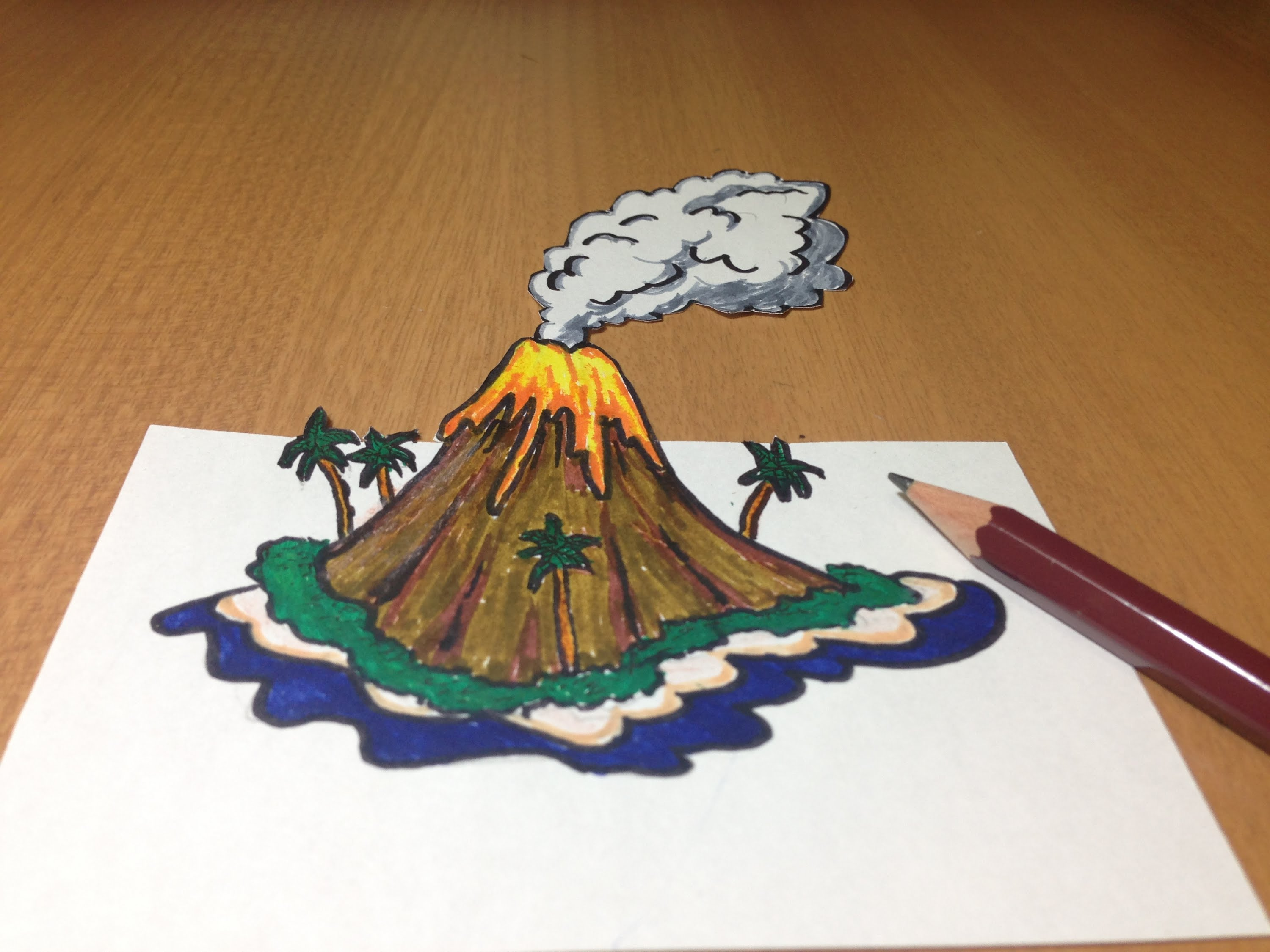 Volcanic Island Coloring Download Volcanic Island Coloring