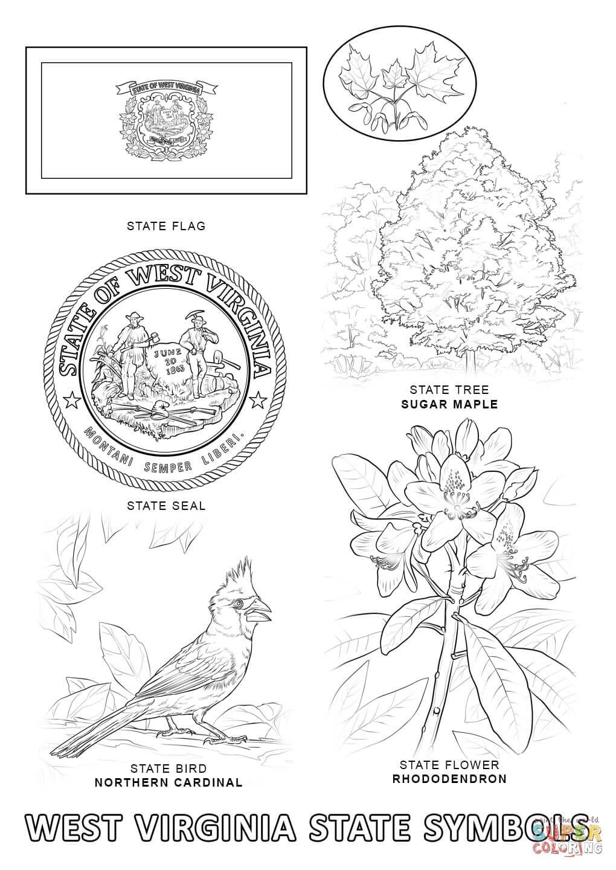 West Virginia coloring, Download West Virginia coloring