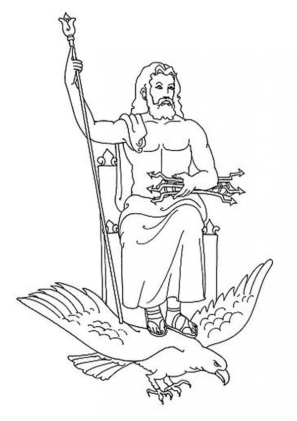 Zeus coloring, Download Zeus coloring