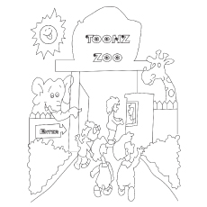 Zoo coloring, Download Zoo coloring