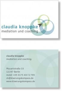 Visitenkarte / Corporate Design für eine Trainerin