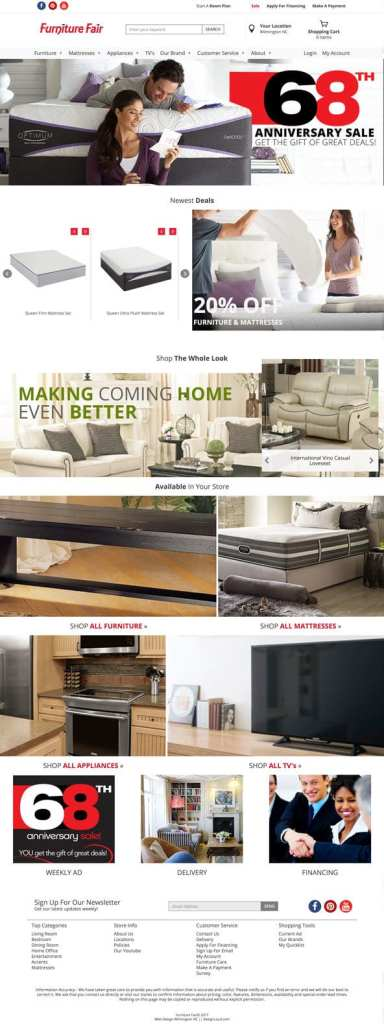 New Furniture Fair Website Design