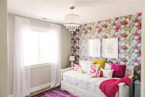 colorful bedroom floral whimsical unique fairytale flair