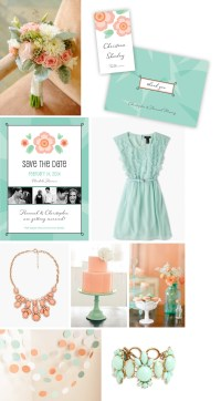 Mint & Coral Wedding | Design Loves Weddings