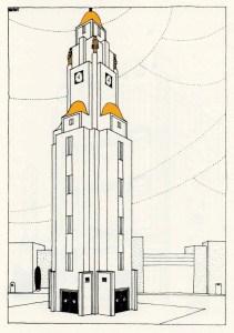 Design Luminy Beffroi-Une-Cité-Moderne-colorisé-Mallet-Stevens Beffroi Une Cité Moderne colorisé Mallet Stevens
