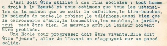 Design Luminy Extrait_page1_1 Robert Mallet-Stevens – Note concernant quelques modifications à apporter à l'enseignement de l'École des Beaux-Arts de Lille (1935) Histoire du design Références Textes  Robert Mallet-Stevens pédagogie enseignement