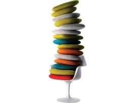 Design Luminy fauteuil-tulipe-coussins_21026792293_o Chaise Tulipe 1956 – Eero Saarinen (1910-1961) Histoire du design Icônes Références  Tulipe Knoll Eero Saarinen