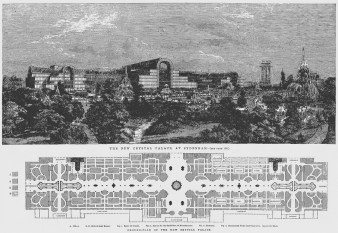 Design Luminy new-crystal-palace-sydenham-plan Crystal Palace 1851 - Joseph Paxton (1803-1865) Histoire du design Icônes Références  Owen Jones Joseph Paxton Henry Cole Exposition universelle Crystal Palace