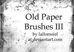 Old Paper Brushes 3