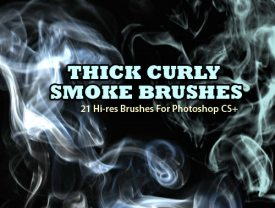 Thick Curly Smoke Brushes