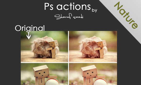 website nature actions freebie download photoshop