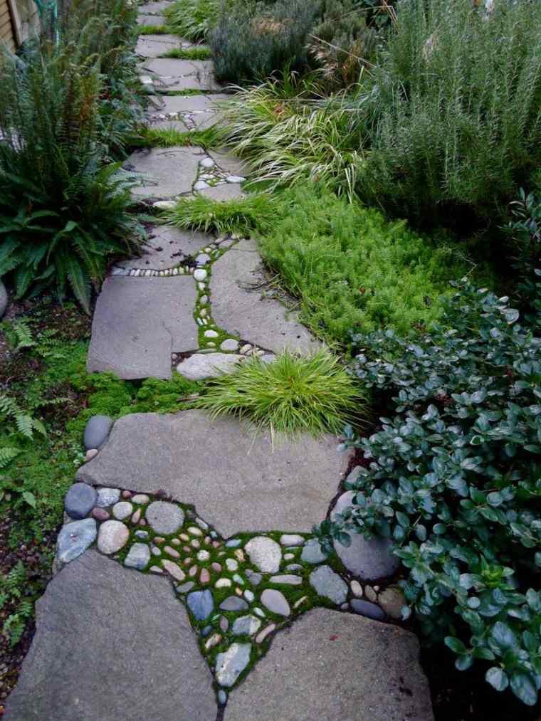 Amnagement alle de jardin et chemin de pierre en 95 ides