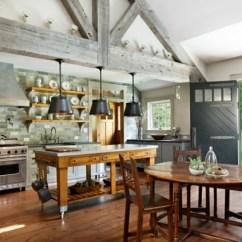Farmhouse Style Kitchen Islands Booth Table For Le îlot à Roulettes Qui Va Pimenter Design De Votre Cuisine