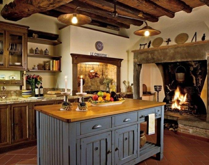 10 exemples reprsentent la cuisine moderne rustique