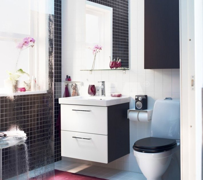 salle de bain design idée meuble petit espace toilettes déco