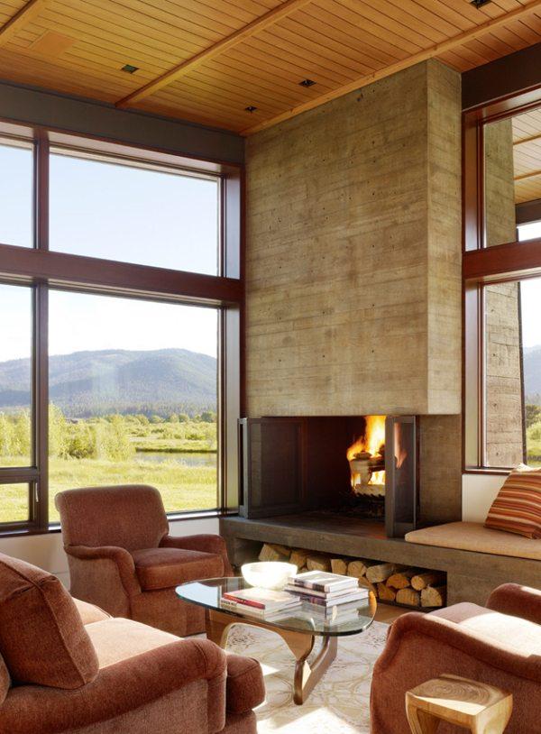 20 exemples pour une chemine moderne dans votre salon