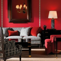Black Red And Gray Living Room Ideas With Grey Sofa Osez Le Salon Rouge Pour Une Ambiance Passionée