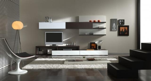 Amnagement de salon meubles modernes  24 ides sympas