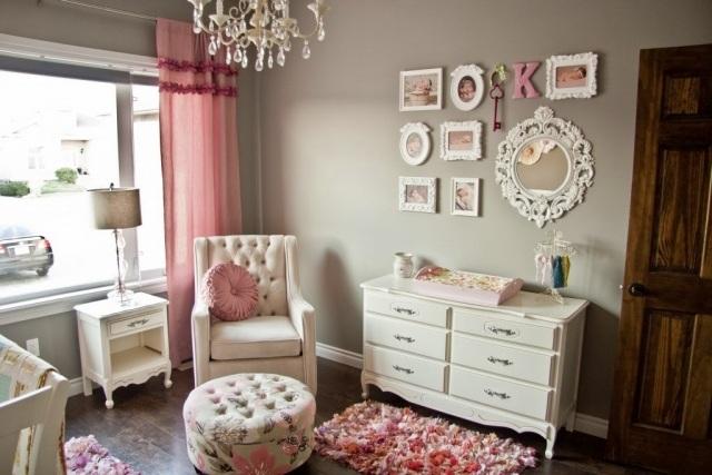 Chambre bb fille en gris et rose  27 belles ides  partager