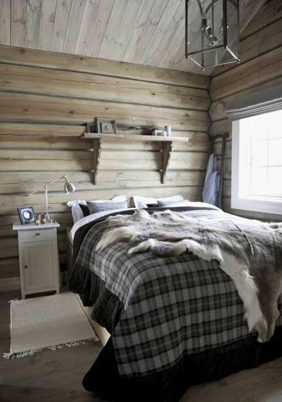 Dcoration chambre adulte de style chalet  22 ides