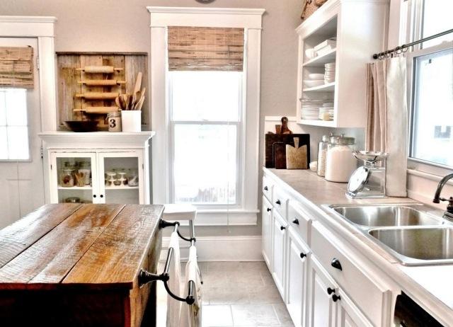 wood mode kitchen cabinets cabinet refinishing kit meuble vintage en cuisine : 30 photos d'îlots très stylés