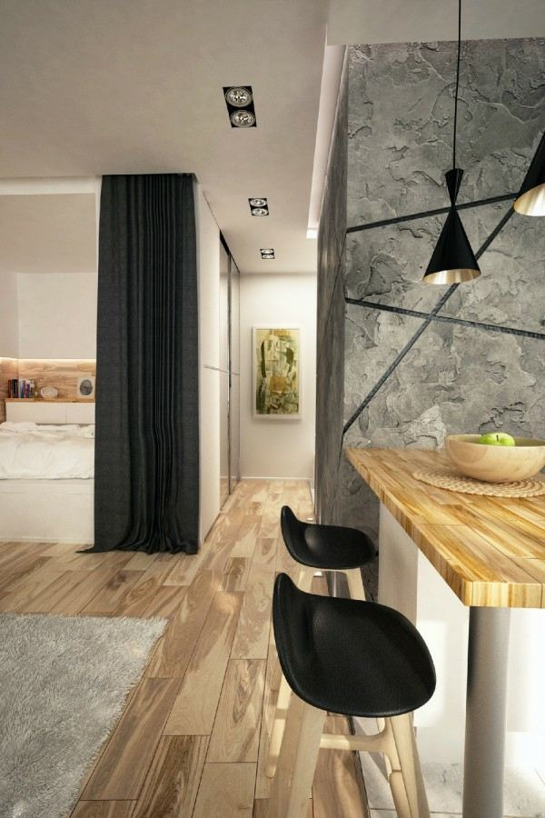 Appartement pour jeune couple  2 concepts design