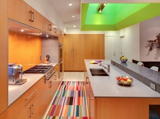 contemporary kitchen table curtain for window tapis moderne pour la petite cuisine - une excellente idée
