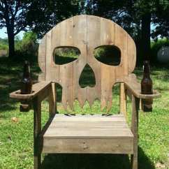 Wooden Skull Chair Gaiam Exercise Ball Le Fauteuil Design Effrayant En Forme De Crâne